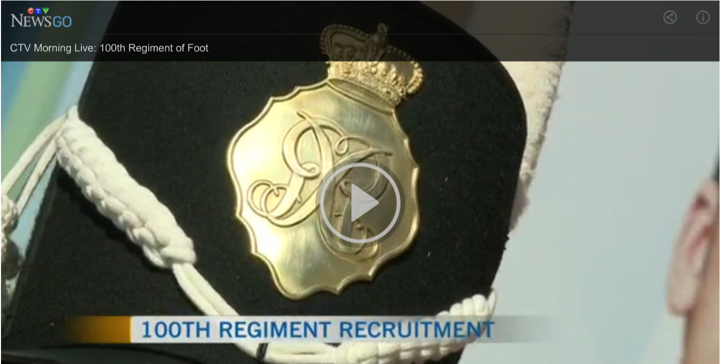 CTV Morning Live Interview 100th Regiment Corps of Drums
